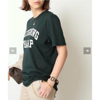 ドゥーズィエムクラス(DEUXIEME CLASSE)の【新品】ドゥズィーエムクラス★REIGNING CHAMP/ロゴTシャツ(Tシャツ/カットソー(半袖/袖なし))