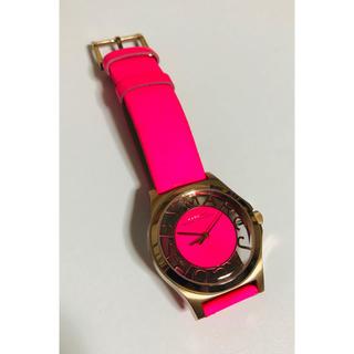 マークバイマークジェイコブス(MARC BY MARC JACOBS)の【電池新品】マークバイマークジェイコブスのヘンリースケルトン☆ピンクカラー☆(腕時計)