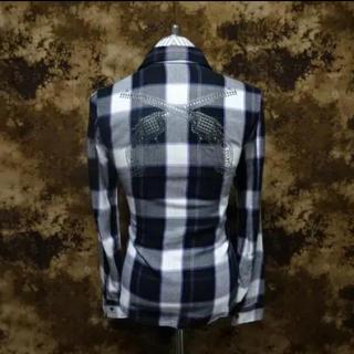ロアー(roar)の美品!!(定価40700)ロアーroar・二丁拳銃チェックシャツ(シャツ)