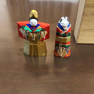 一刀彫り雛人形 本日限定価格(人形)