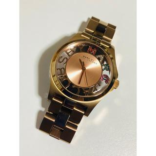マークバイマークジェイコブス(MARC BY MARC JACOBS)の【電池新品の美品】マークバイマークジェイコブスのヘンリースケルトン☆Pゴールド☆(腕時計)