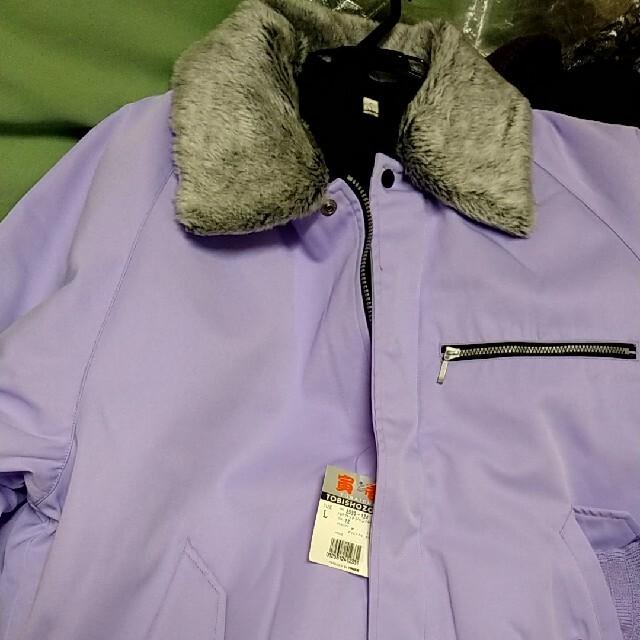 寅壱(トライチ)の寅壱ドカジャンLパープル! メンズのジャケット/アウター(フライトジャケット)の商品写真