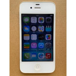 アイフォーン(iPhone)のiPhone4 16G ホワイト 箱とケース付き(携帯電話本体)