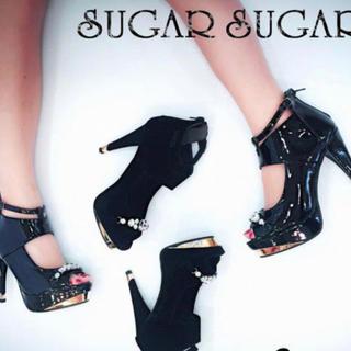 シュガーシュガー(Sugar Sugar)のSugar Sugar ビジューサンダル(ハイヒール/パンプス)