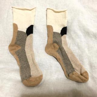 ミナペルホネン(mina perhonen)のサルビア 靴下 ソックス お値下げ(靴下/タイツ)