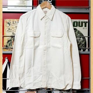クーティー(COOTIE)の購入15000円 cootie ワークシャツ S アイボリー kj 長袖(シャツ)