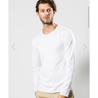 ダブルジェーケー(wjk)のwjk standard jersey L/S crew カットソー  白 M(Tシャツ/カットソー(七分/長袖))