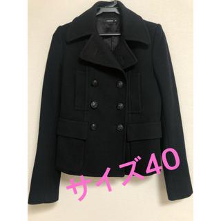 ルシェルブルー(LE CIEL BLEU)のお値下げしました✨LE CIEL BLEU コート サイズ40 ブラック(ピーコート)