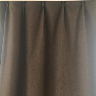 ムジルシリョウヒン(MUJI (無印良品))の無印良品 カーテン ダークブラウン 142cm✖️180cm(カーテン)