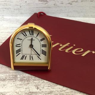 カルティエ(Cartier)の【希少】カルティエ トラベルウォッチ 置時計(置時計)