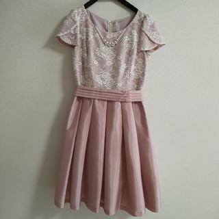 デビュードフィオレ(Debut de Fiore)のデビュードフィオレ ピンクドレス サイズ36(ミディアムドレス)