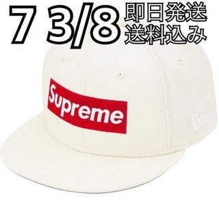 シュプリーム(Supreme)の7 3/8 World Famous Box Logo New Era 白(キャップ)