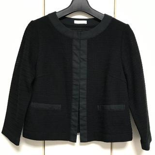 ビームス(BEAMS)のビームス アウター ブラック 袖7分丈(ノーカラージャケット)
