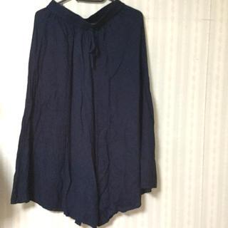 ワイドパンツ 紺(カジュアルパンツ)