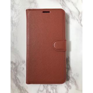 ギャラクシー(Galaxy)のシンプルレザー手帳型ケースGalaxyS9 ブラウン 茶色(Androidケース)