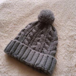 ニット帽 グレー(ニット帽/ビーニー)