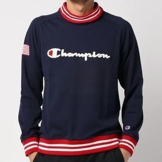 チャンピオン(Champion)の新品 L champion golf long sleeve shirt 紺(ウエア)