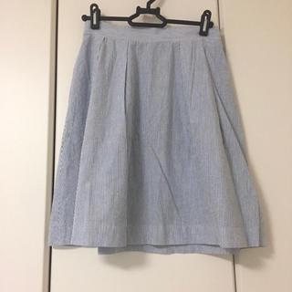 フリークスストア(FREAK'S STORE)のフリークスストア 膝丈 スカート ストライプ 水色 ブルー (ひざ丈スカート)