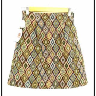 ミスティウーマン(mysty woman)のmysty woman / ジャガード織りスカート(ひざ丈スカート)