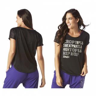 ズンバ(Zumba)のZumba ズンバメッシュ 黒 Sale(Tシャツ(半袖/袖なし))