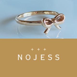 ノジェス(NOJESS)のNOJESS  K10/3号 リボンモチーフ ピンキーリング❤︎指輪(リング(指輪))