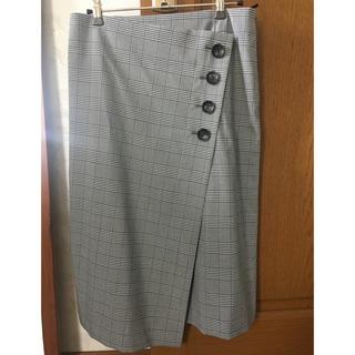 コムサコレクション(COMME ÇA COLLECTION)のコムサモデルズ グレンチェック スカート サイズ38(ひざ丈スカート)