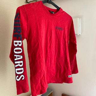 クイックシルバー(QUIKSILVER)のnev  長袖シャツ  赤 130cm(Tシャツ/カットソー)