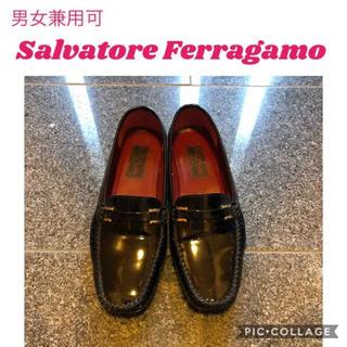 サルヴァトーレフェラガモ(Salvatore Ferragamo)の美品 フェラガモ エナメル パテント ビットローファー(ローファー/革靴)