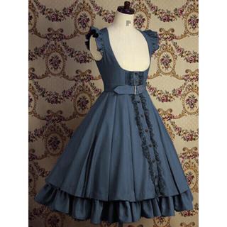 ヴィクトリアンメイデン(Victorian maiden)のMary Magdalene キュリアスジャンパースカート ブルー(ロングワンピース/マキシワンピース)