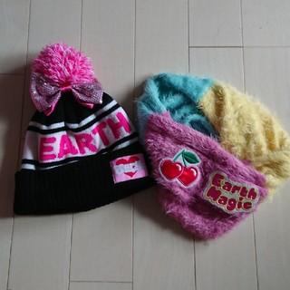 アースマジック(EARTHMAGIC)のマフラー ニット帽 Lsize セット(マフラー/ストール)