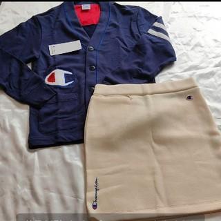 チャンピオン(Champion)のチャンピオン ゴルフ カーディガン フリーススカート セット Lサイズ(ウエア)