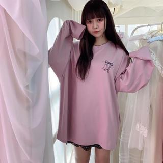 アンクルージュ(Ank Rouge)のpium いたずら天使のオーバーサイズロングTシャツ 新品未開封 長袖 ロンT(Tシャツ(長袖/七分))