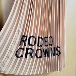ロデオクラウンズワイドボウル(RODEO CROWNS WIDE BOWL)のRODEOCROWNS ロゴ入りプリーツスカート マキシ(ロングスカート)