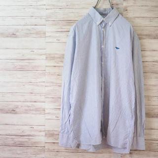 メゾンキツネ(MAISON KITSUNE')のイタリア製 MAISON KITSUNE ストライプBDシャツ(シャツ)