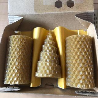ヤマダヨウホウジョウ(山田養蜂場)の山田養蜂場 キャンドル 3本(キャンドル)