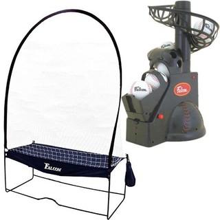 値下げ!送料込【中古】野球のバッティング練習に!トスマシン&ネットをセット(練習機器)