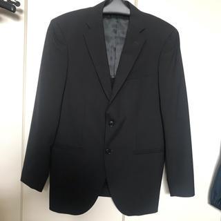 ユニクロ(UNIQLO)のユニクロメンズM☆ウール70%ジャケット黒(テーラードジャケット)