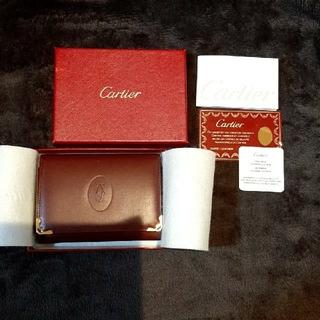 カルティエ(Cartier)の最終● 新品●カルティエ 名刺入れ ボルドー(名刺入れ/定期入れ)