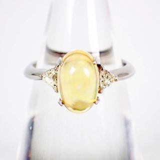 Pt900 ダイヤモンド ファイヤーオパール リング 10号[g296-1](リング(指輪))