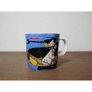 アラビア(ARABIA)のアラビア ムーミン スウェーデン 限定  マグカップ  ブルー 新品   (グラス/カップ)