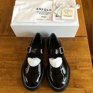 エンフォルド(ENFOLD)のエンフォルドenfold エナメルストラップシューズ36(ローファー/革靴)