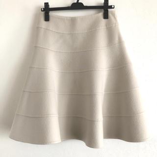 アドーア(ADORE)のADORE  アドーア カシミヤ&ウール フレアースカート(ひざ丈スカート)