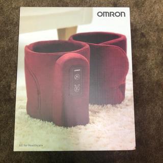 オムロン(OMRON)のオムロン エアマッサージャー HM-255 レッド 新品未開封品(フットケア)