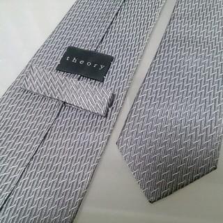 セオリー(theory)のセオリー theory ネクタイ ビジネス スーツ グレー 灰色(ネクタイ)