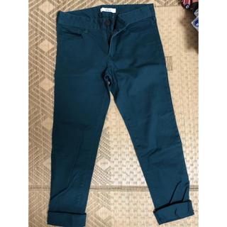 イッカ(ikka)の青緑パンツ(カジュアルパンツ)