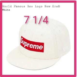 シュプリーム(Supreme)の7 1/4 World Famous Box Logo New Era 白(キャップ)