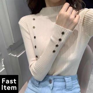 ゴゴシング(GOGOSING)の韓国ファッション♡ポイントタイトセーター トップス フェミニン かわいい(ニット/セーター)