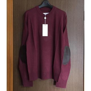 マルタンマルジェラ(Maison Martin Margiela)のXL新品 メゾン マルジェラ エルボーパッチ ニット リネン セーター メンズ(ニット/セーター)