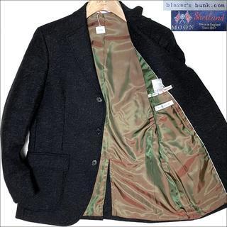 スーツカンパニー(THE SUIT COMPANY)のJ3082 美品 ユニバーサルランゲージ MOON生地ツイードジャケット 濃灰(テーラードジャケット)