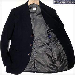 スーツカンパニー(THE SUIT COMPANY)のJ3562 美品 スーツカンパニー フランネル セミツイードジャケット 黒165(テーラードジャケット)